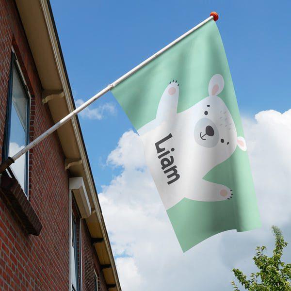 Geboortevlag - Beertje - Groen